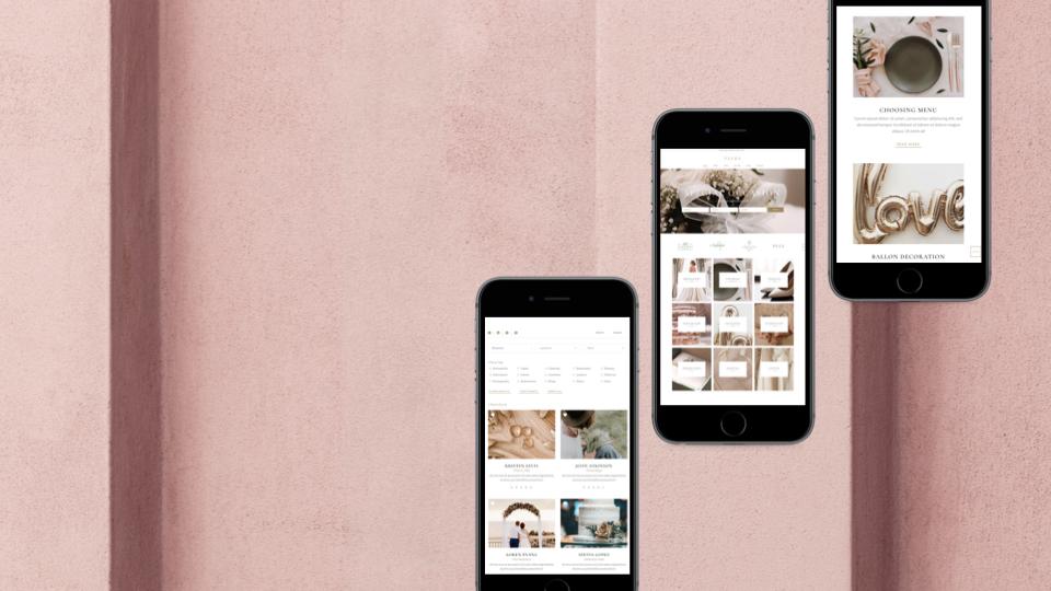 Création du site web d'une agence de Wedding Planner
